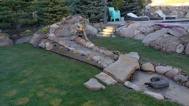 Waterfall Construction By SLC Lawn Services